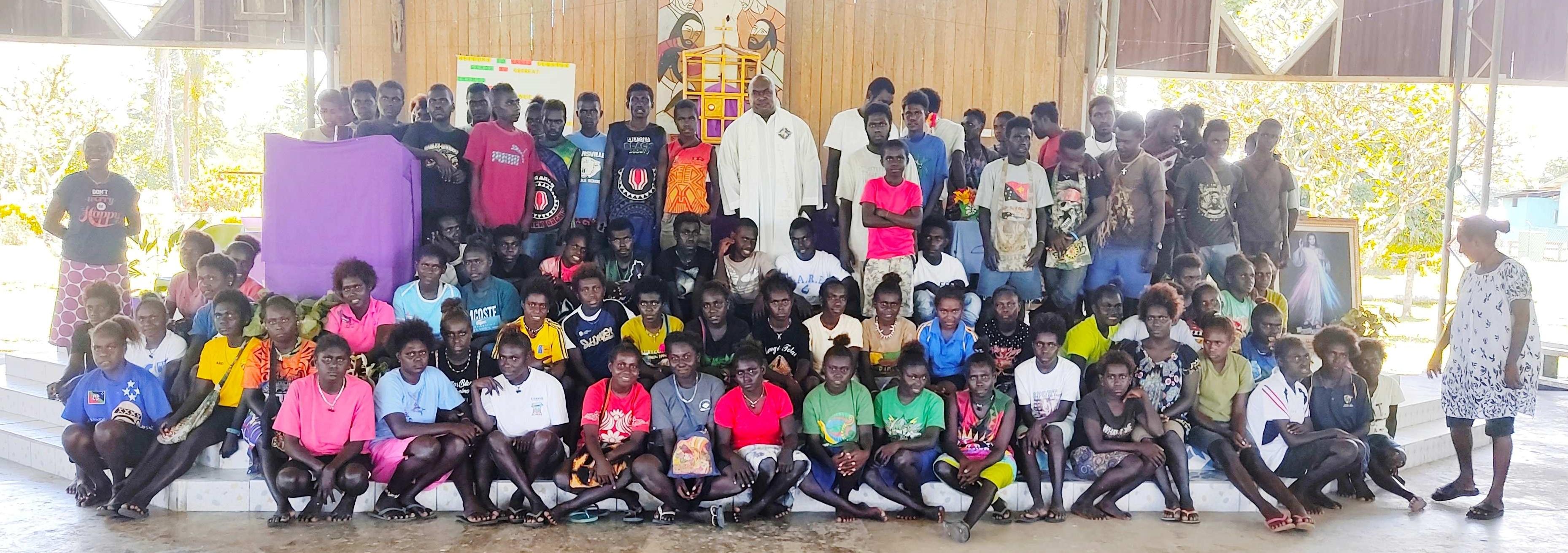1 All grade 8 students from schools wthin Makis area Holy Cross parish Piano Retreat master Fr Austin Magara sm